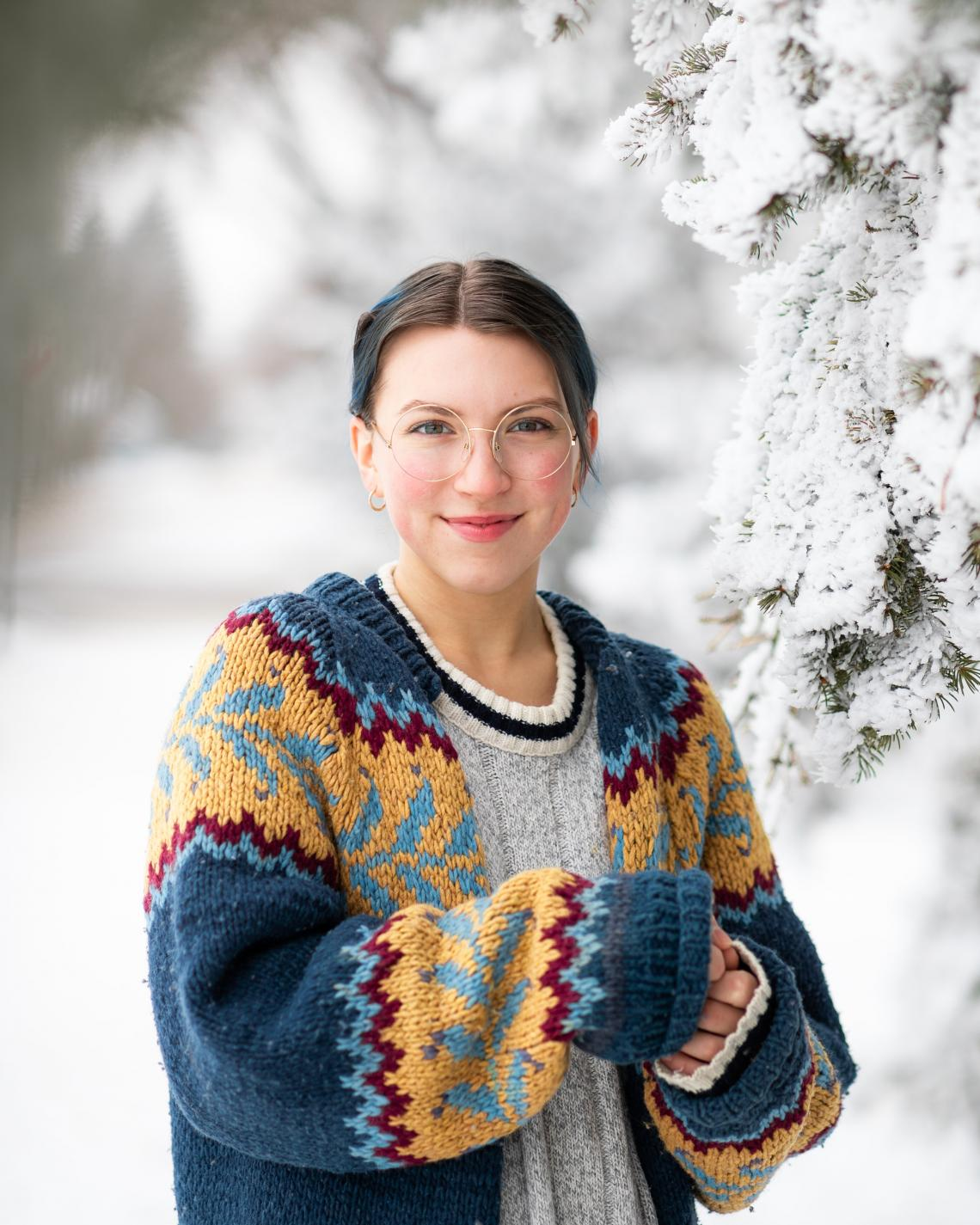 sweater in the snow