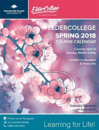 VIU ElderCollege Spring 2018 calendar