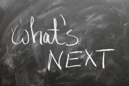 What's next on a chalkboard
