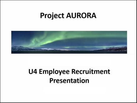 Title Slide - U4 Employee Recruitment Presentation